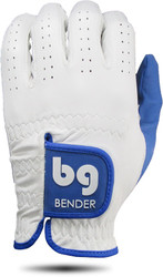 Bender Gloves- MLH Elite Cabretta Leather Glove White with Blue