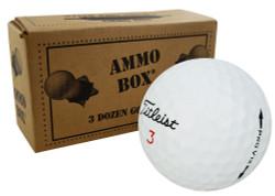 Titleist Pro V1x 18 Near Mint Used Golf Balls *36-Ball Ammo Box*