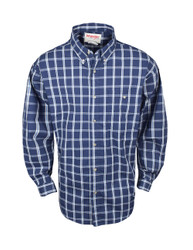 Wrangler- Long Sleeve Wrinkle Resist Plaid Shirt