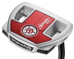 Pre-Owned TaylorMade Golf Spider Mini Diamond Silver Double Bend Putter (Left Handed)