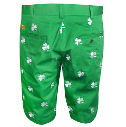 Loudmouth Golf- Shamrocks Embroidered Shorts