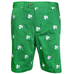 Loudmouth Golf- Shamrocks Embroidered StretchTech Fabric Shorts