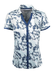 Etonic Golf- Ladies Printed Short Sleeve Button Polo