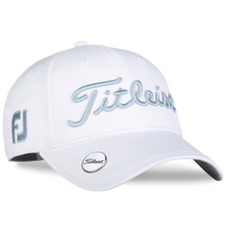 Titleist Golf- Ladies Tour Perf Ball Marker Cap White Collection