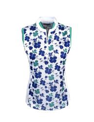 Callaway Golf Ladies All-Over Printed Floral Top
