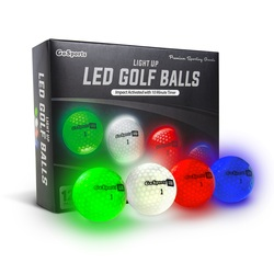 GoSports Golf- Light Up LED Balls (12 Pack)