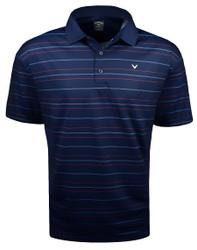 Callaway Golf- Printed Refined Stripe Polo