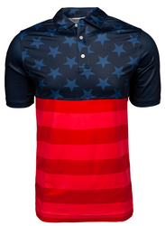 U Suck At Golf- Stars and Stripes Polo