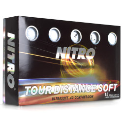 Nitro Tour Distance Soft Golf Balls [15-Ball] LOGO ONLY