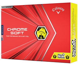 Callaway Chrome Soft Play Yellow Truvis Golf Ball