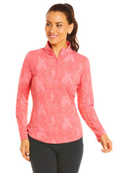 IBKUL Golf- Ladies BTB Snake Long Sleeve Mock
