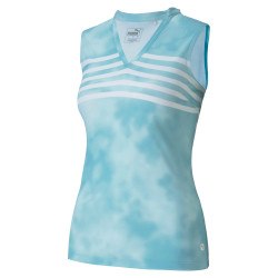 Puma Golf- Ladies Tie Dye Sleeveless Polo