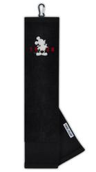 Team Effort Golf Disney Mickey Mouse Face/Club Tri-Fold Embroidered Towel