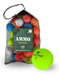 Wilson Staff Duo Matte Mint Recycled Used Golf Balls *36-Ball Ammo Bag*