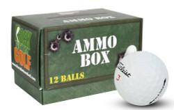 Titleist Pro V1x Mint Refinished Used Golf Balls *12-Ball Ammo Box*