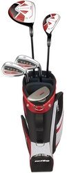 Nitro Golf LH Blaster Pro 8 Piece Junior Boys Complete Set With Bag Graphite (Ages 9-12) Left Handed