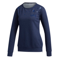 Adidas Golf- Ladies USA Crew Sweatshirt