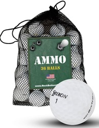 Srixon Q Star Recycled Mint Used Golf Balls *36-Ball Ammo Bag*