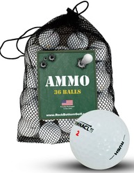 Pinnacle Assorted Mixed Mint Used Recycled Golf Balls *36-Ball Ammo Bag*