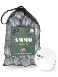 Snell MTB Mix Fair Used Recycled Golf Balls *36-Ball Ammo Bag*