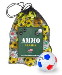 Callaway Chrome Soft Truvis Fair Recycled Used Golf Balls *36-Ball Ammo Bag*
