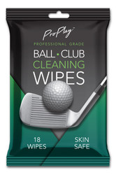 Go ProPlay Golf- Ball and Club Cleaning Wipes (18 Count)