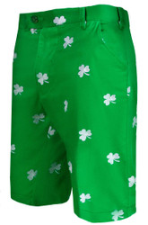Loudmouth Golf- Embroidered Shamrock Cotton Shorts