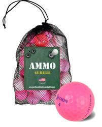 Assorted Mix Fair Pink Used Golf Balls [48-Ball]