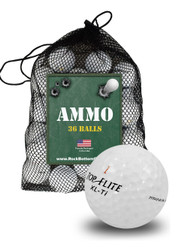 Top Flite Assorted Surlyn Mix Near Mint Recycled Used Golf Balls *36-Ball Ammo Bag*