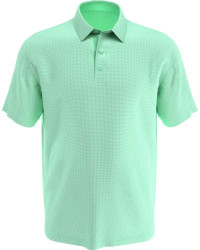 Callaway Golf- Gingham Printed Short Sleeve Polo