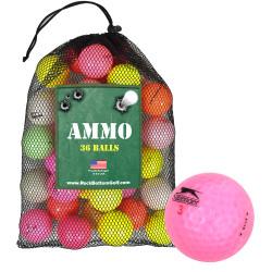 Assorted Crystal Mix Mint Recycled Golf Balls [36-Ball] Mesh Bag