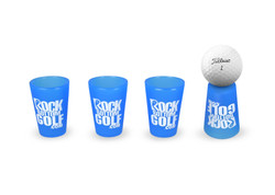 SiliPint Shot Glasses Rock Bottom Golf [4-Pack]