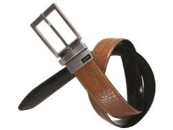 Greg Norman Golf- Reversible Croco Print Leather Belt