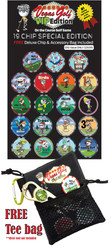 Vegas Golf- On The Course Golf Game 19 Chip Edition w/ Deluxe Tee Bag
