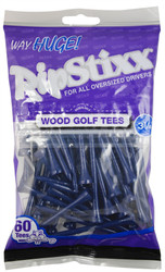 "PrideSports Golf- 3 1/4"" Way Huge RipStixx Wood Tees (60 Pack)"