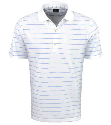 Greg Norman Golf- Play Dry Performance Striped Mesh Polo