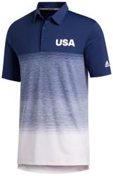 Adidas Golf- Ultimate365 Fade Stripe USA Polo