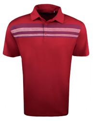Etonic Golf- Chest Stripe Print USA Polo