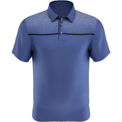 PGA Tour Golf- Short Sleeve Textured Chest Print Polo
