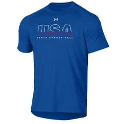 Under Armour Golf Tech USA T-Shirt (Red, White & Blue Collection)