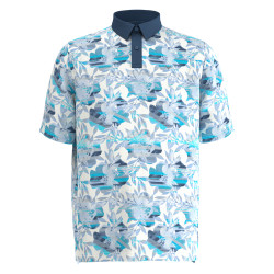Callaway Golf- Big & Tall Structured Floral Printed Polo