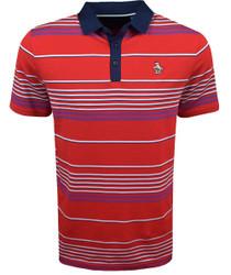 Original Penguin Golf- Y/D Fine Line Stripe Polo