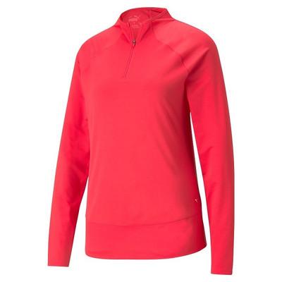 Puma Golf- Ladies Mesh 1/4 Zip Pullover
