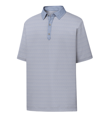 FootJoy Golf- Diamond Line Print Lisle Polo