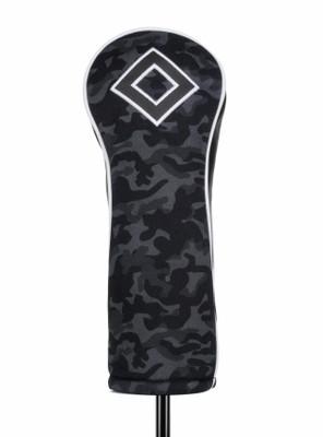 Titleist Golf- Black Camo Leather & Cotton Twill Fairway Headcover