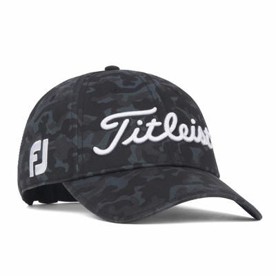 Titleist Golf- Black Camo Tour Standard Curve Hat