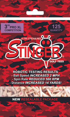 """Stinger Tees- 3"""" Stinger Pro XL Competition Camo Mid Pack Poly Bag [125 Count]"""