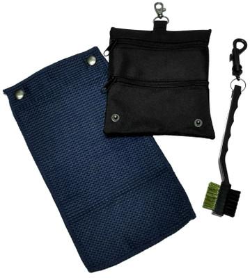 Caddy Daddy Golf- Golf Accessory Bag, Towel & Brush Set