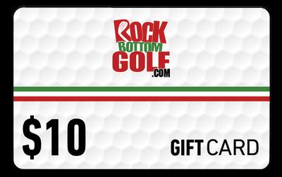 RockBottomGolf.com $10 Holiday Gift Card
