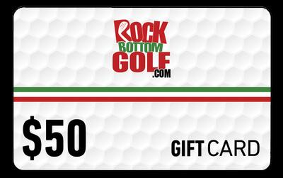 RockBottomGolf.com $50 Holiday Gift Card